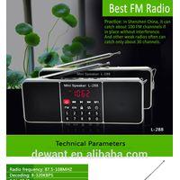 Portable card mp3 player AM FM radio with bluetooths