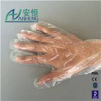Clear medical glove with great price plastic gloves