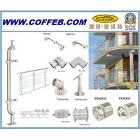 Portable / Stainless Steel Staircase / Balcony / Free standing / Stainless Steel Handrail
