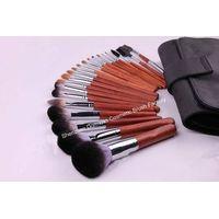21-piece Professional Cosmetic/Makeup Brush Set, Hair: XGF goat,sable,pony,nylon hair, Wood Handle thumbnail image