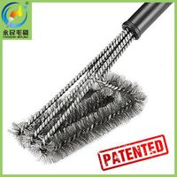 Patented best grill brush bbq cleaning brush