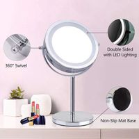 Hot selling professional round lighted cosmetic standing make up mirror magnifying led makeup mirror thumbnail image