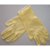 disposable yellow latex gloves choloridized