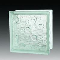 Rain glass block wall decoration