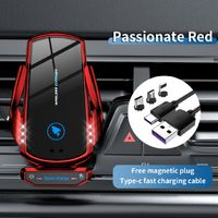2021 new smart auto clamping fast wireless charger car mount for any mobile