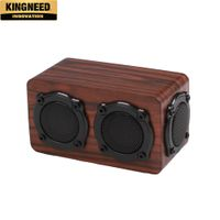 2018 hot Wooden Bluetooth speaker dual speakers