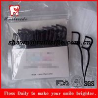biodegradable bamboo charcoal dental floss pick