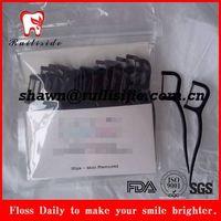 biodegradable bamboo charcoal dental floss pick