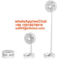 Rechargeable Foldable Led Usb Cooling Electric Table Fans/Adjustable Height Telescopic Fan/Hand Port