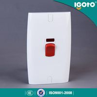 Igoto British standrad E18 electrical power water heater wall switches manufacturers