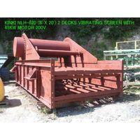 USED KINKI NLH-820 (8 ft X 20 ft) 2 DECKS HORIZONTAL TYPE VIBRATING SCREEN S/NO. S-4986 thumbnail image