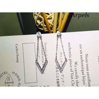 Neffly JEWELRY fashion V STYLE earings S925 silver plated 18K Gold with Singer Star the Same Style F