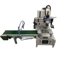 automatic 4 stations screen printing machine with mechanical arm