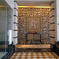 Damasco Marrone JY-P-D06 Bisazza Brown and Silver Pattern Glass Mosaic Bathroom Tile thumbnail image