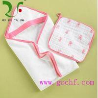 skin-friendly baby hooded bath towels