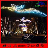 outdoor holiday decoration christmas motif street light