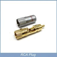High Performance Copper RCA Plug Gold Plated Audio Video Adapter Connector
