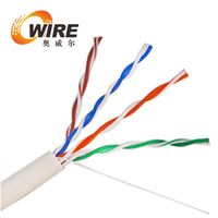 Cat5e Plenum rated, 350Mhz 24AWG CMP White 1000 ft cable in pull box.
