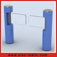 Security Access Control System Acrylic Swing Barrier Gate