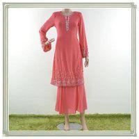 Transend new design chiffon beading islamicclothing