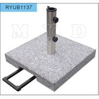 35kgs square grey grantie umbrella base