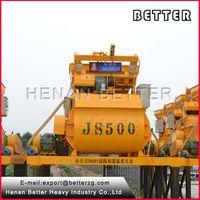 New design JS500 electric twin shaft mixers concrete mixer prices thumbnail image