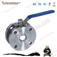 china manufacture short wafer stainless steel ball valve
