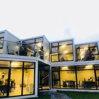Made in china small prefab houses, flat pack container house luxury, small prefab houses thumbnail image