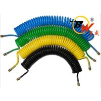 6M 20Feet Multi colour Dia 8mm x 5mm Spiral Spring Recoil PU air hose for Pneumatic System
