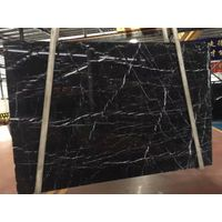 China Nero Marquina Marble Black Marble Slabs For Constructions