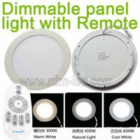 3W 4W 6W 9W 12W 15W 18W 24W Color Change Round flat remote dimmable LED panel light