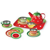 Metal tinplate tea tin set toy for kids