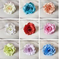 Artificial Flower Silk Flower Open Rose and Bud