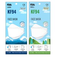 NEW KF94 FDA CE FFP2 ISO 9001 14001 4-Ply Disposable Medical Surgical White 4-Layers Face Mask Korea