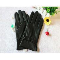 Mens leather gloves deerskin winter warm in fashion style