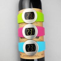 Stainless steel mini lcd wine thermometer digital