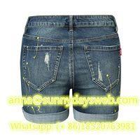 2019 New Lady sexy skinny hot shorts denim jeans high waist short jeans