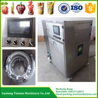 stand-up spouted pouch jelly juice filling and capping machine