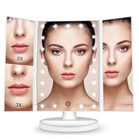 1X 2X 3X Magnifying Makeup Mirrors 36 LED Battery and USB Two Powered Mode Plastic Framed Mirrors thumbnail image