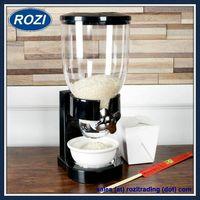 Black Single Dry Food Dispenser Cereal PET Kitchen Storage thumbnail image