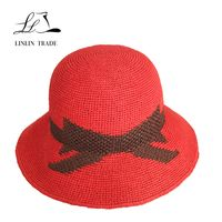 Hot selling custom color floppy summer lady beach straw hat thumbnail image