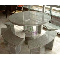 Garden Stone Marble Table Chair for Garden Furniture