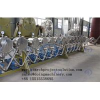Hydrocyclone separator for starch processing line