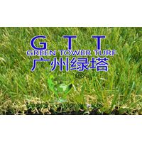 Garden decoration and landscape 4 tones monofilament PE straight & PP curly artificial turf