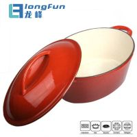 Hot Pot Oval Enamel Cast Iron Cookware Casserole