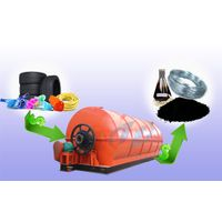 Waste rubber pyrolysis plant