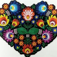 Heart Shape Bags Hat Jeans Applique Sew Iron On Custom Patch thumbnail image