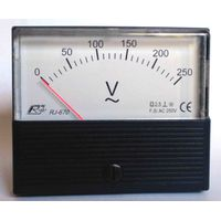 analog ammeter, voltmeter, Hz meter/moving iron, moving coil