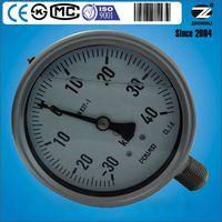100mm vibration resistant liquid filled pressure gauge