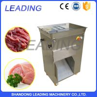 Industrial fish and meat strip cutting machine